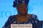"Ms Okonjo-Iweala said she was ""immensely humbled"" to be nominated."