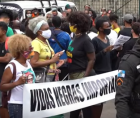 Brazilians outraged by the death of a Black man after being beaten by supermarket security guards have been protesting in major