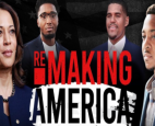 "Portland Trail Blazers star CJ McCollum (far right) will interview Kamala Harris on his new show ""Remaking America"""