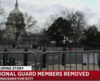 Twelve Army National Guard members have been removed from inauguration duty in Washington, DC, as part of the security vetting p