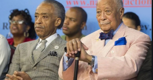 Former Mayor David Dinkins (above with Rev. Al Sharpton) is being celebrated today at National Action Network.