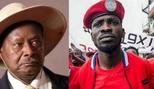 General Yoweri Museveni and presidential challenger Bobi Wine